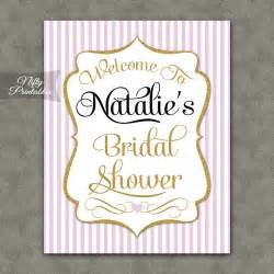 bridal shower signs pink gold bridal shower welcome sign nifty printables