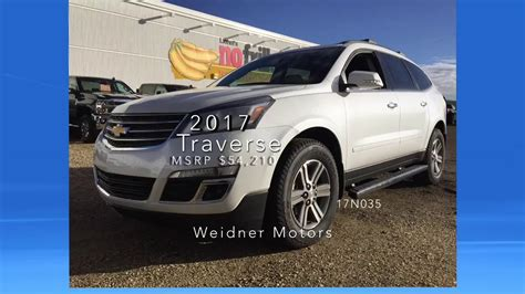 chevrolet traverse 7 seater 2017 chevrolet traverse 2lt white 7 seater suv awd