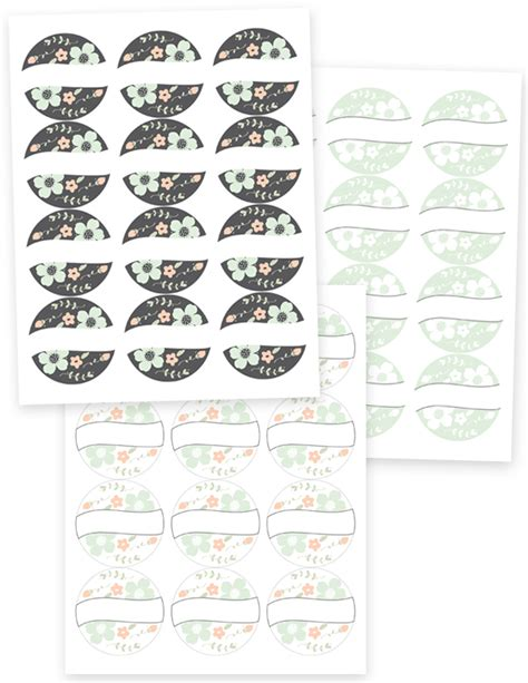 free printable small jar labels free round label templates use for pantry favors