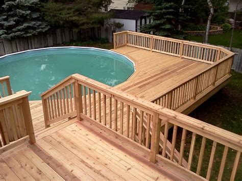 swimming pool decks here s a multi level pool deck for an above ground pool