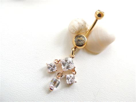 gold belly button ring belly button ring gemstone