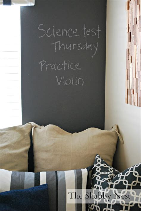 chalkboard wall in bedroom the shabby nest not the typical way to paint a chalkboard