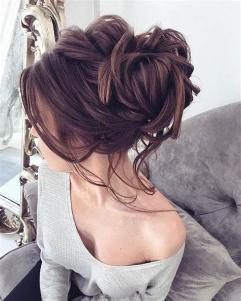wedding hairstyles long brunette top 10 messy updo hairstyles messy wedding updo updo