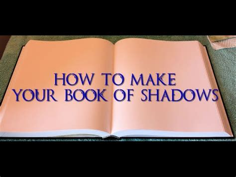 How To Make A Book With One Of Paper - how to make a book of shadows part 1