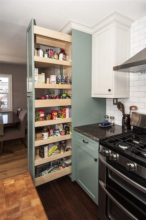 Pull Out Pantry by Re Imagining The Kitchen Pantry Cabinet Hubbard S