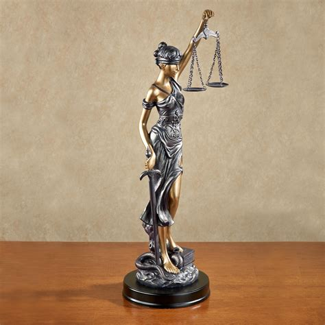themis blind justice tabletop statue