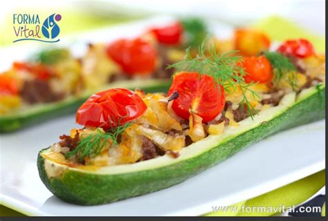 italian stuffed zucchini boats with ground beef tomatoes mozzarella zucchini boats stuffed with ground meat forma vital