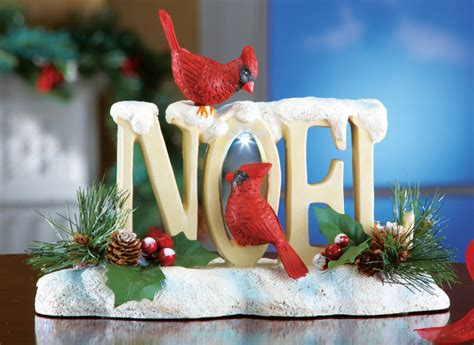 led cardinal noel tabletop christmas decoration by