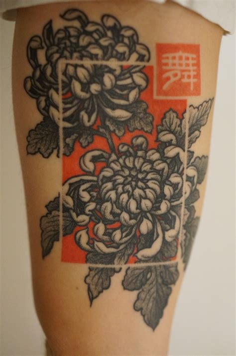 tattoo background ideas portland chrysanthemum i the idea of that