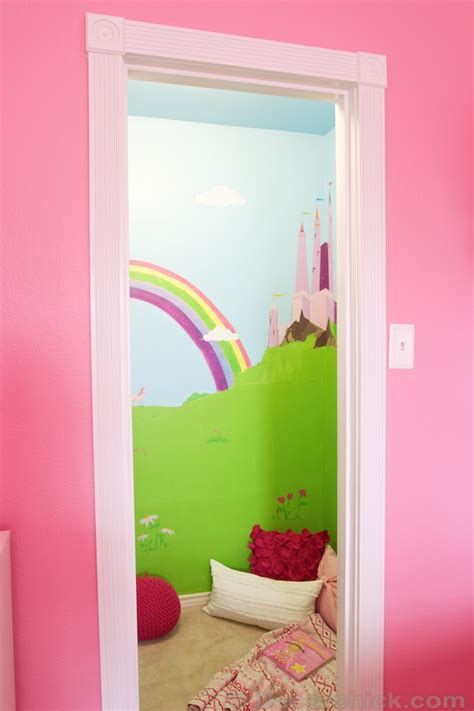 Castle Closet by A Dreamy Room Makeover With Door Bookcase