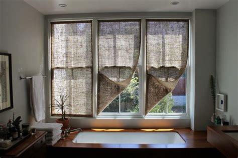 Ideas Design For Burlap L Shades The Shingled House Diy Easy Burlap Shades For Less Than 20 Each Remodelista