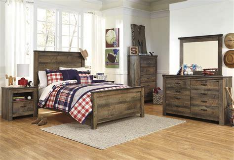Bevelle 5 Bedroom Set trinell brown panel bedroom set from b446 54 57 96