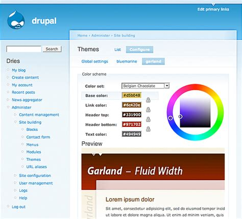drupal themes garland garland drupal org