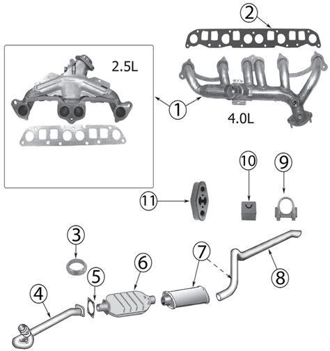 2000 jeep wrangler parts jeep xj exhaust parts 84 01 quadratec