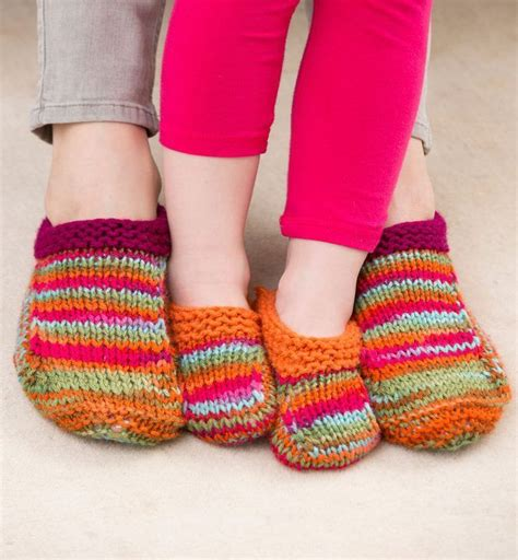 knitting pattern simple slippers free knitting pattern for mom and me slippers these easy