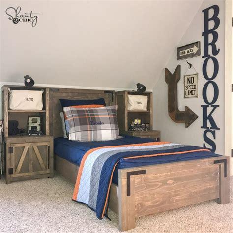 diy modern farmhouse platform bed shanty  chic