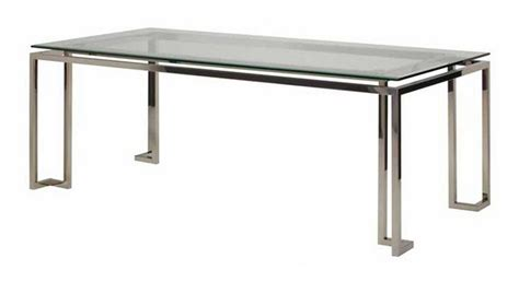 rn 625 modern dining table with polished stainless steel frame