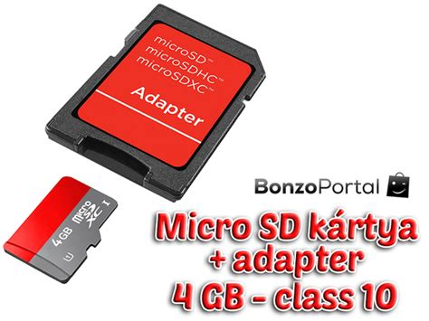 4gb os micro sd k 225 rtya class 10 adapter bonzoport 225 l