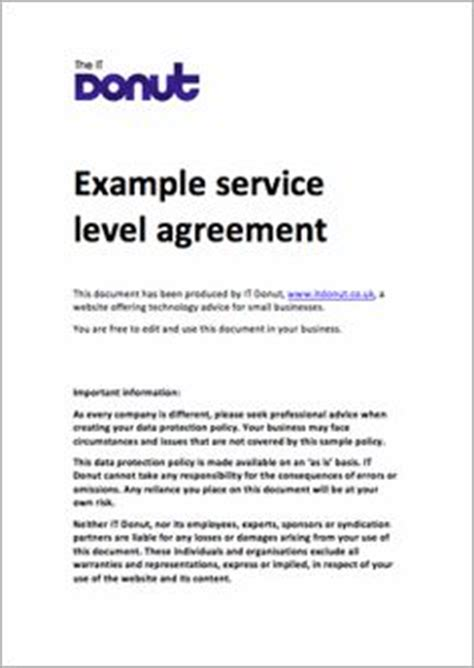 it support service level agreement template 1000 ideas about service level agreement on