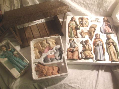 home interior nativity huge vintage home interiors homco nativity set w manger