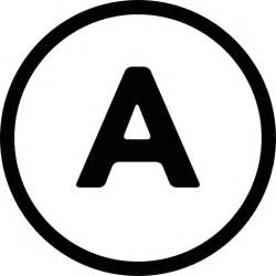 letter a inside a circle free signs icons