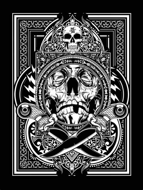 Skull Hydro hydro74 illustration graphic design poster black and