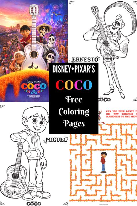 coco coloring book disney pixar coco coloring pages for boys and books free printable coloring pages for disney pixar s coco