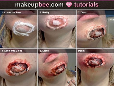 zombie skin tutorial step by step tutorial for exposed chin cool concept but