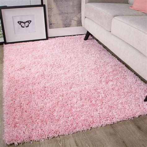pink rug for room soft fluffy thick pink shaggy rugs baby pink shaggy rug for living room uk ebay