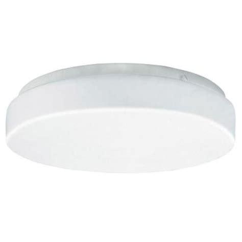 Aspects Multi Use Flush Mount 1 Light White Fluorescent Flush Mount Drum Light Fixtures
