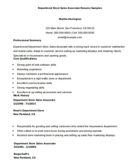 Electronics Sales Associate Sle Resume by 7 Sales Associate Resume Templates Pdf Doc Free