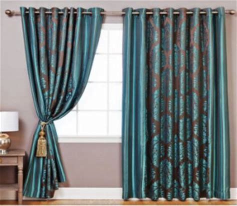home decor curtains designs damask curtains for stylish homes hometone