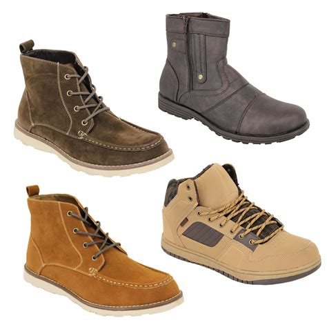 mens boots high mens boots high ankle top suede look chukka desert shoes