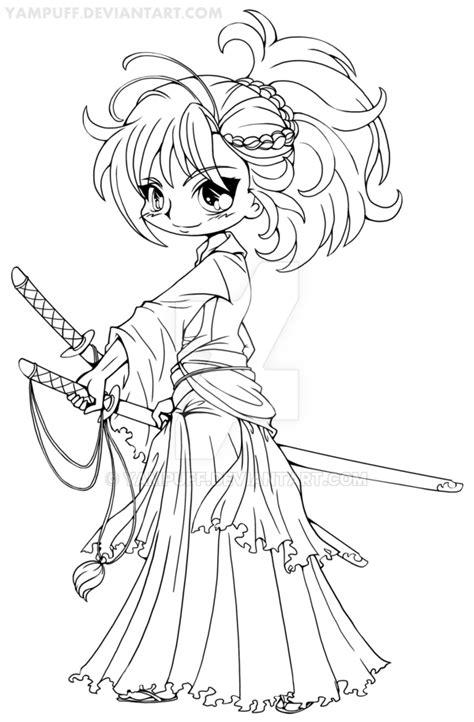 real princess coloring pages musashi miyamoto chibi lineart by yuff on deviantart