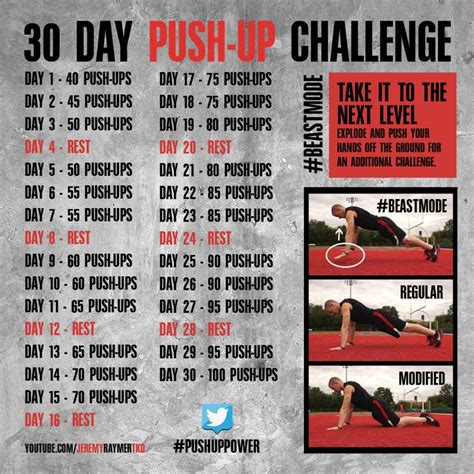 challenge for a 30 day push up challenge for
