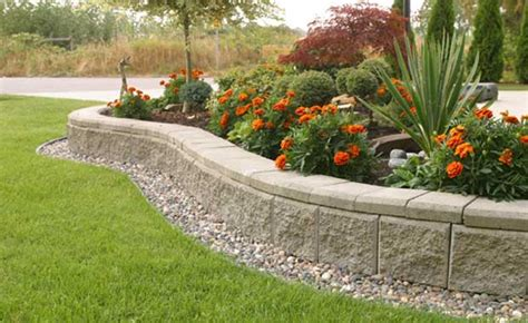 retaining wall flower bed retaining wall products ab garden wall collection by