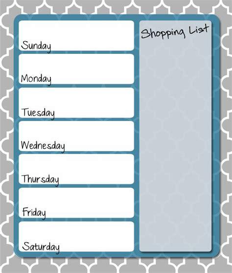 printable dinner planner free printable weekly menu planner free printables