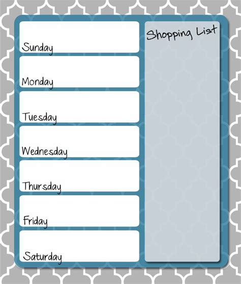 free printable dinner planner free printable weekly menu planner free printables