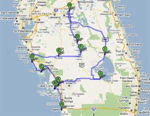 map of florida east coast towns map