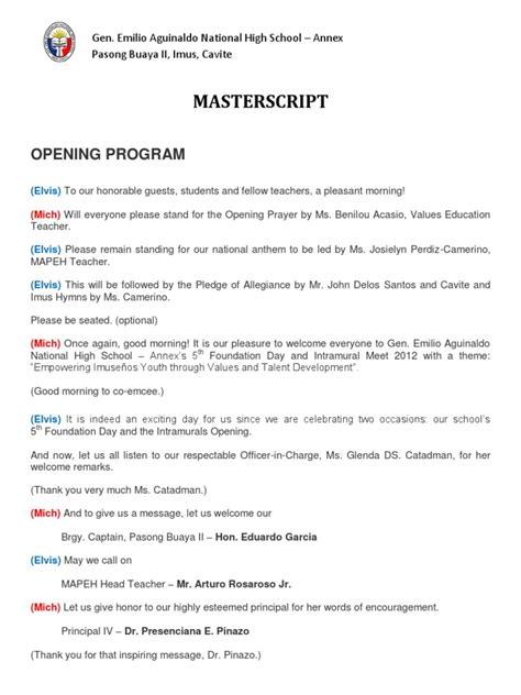 emcee script for christmas program of teachers intramural script 2012 revised