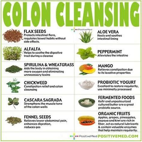 Healthy Diet Detox Cleanse by Colon Cleansing Foods Healing