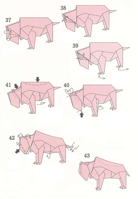 Origami Bulldog - origami origami diagram of the bull origami bulldog