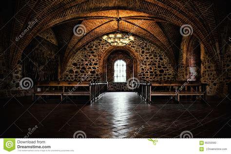 castle interior design castle room interior stock photo