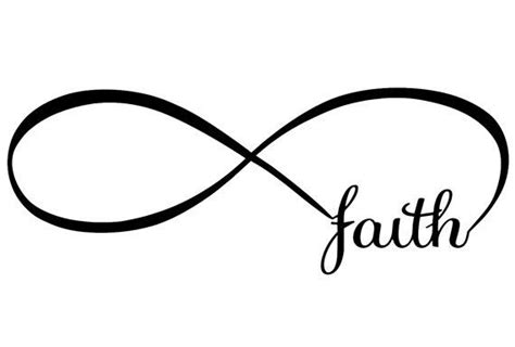 faith infinity vinyl decal for wall mirror glass or