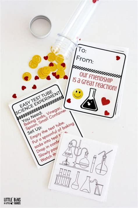 science valentines cards science cards in a test free printable for