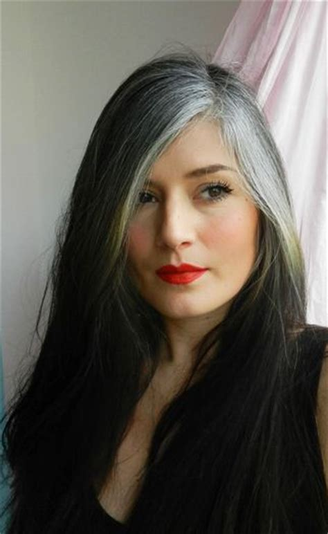 how to make a grey streck in my hair 459 best growing out gray discovering silver images on