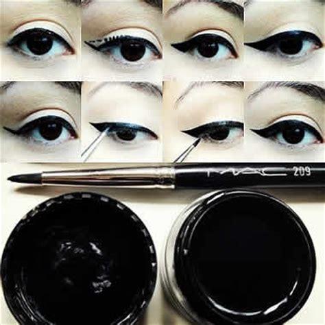 tutorial makeup eyeliner gel como delinear el parpado superior con delineador en gel