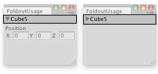 gui layout position unity editorguilayout foldout 折叠标签