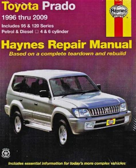 1996 toyota land cruiser service manual toyota land cruiser prado petrol diesel 1996 2009 workshop car manuals repair books