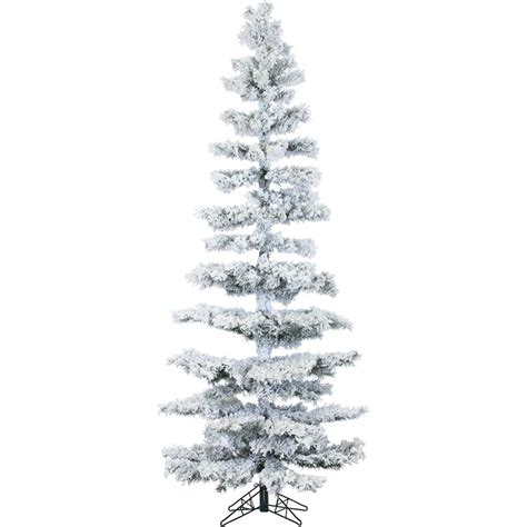 sterling nine foot flocked led trees sterling 7 5 ft pre lit lightly flocked mckinley pine artificial tree with clear